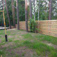 Установка деревянного забора в Курортном районе СПб