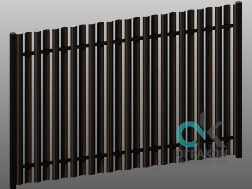 Штакет двухсторонний, просвет 150 мм