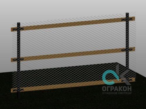 Забор строительный, прозрачный