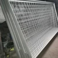 Производство и поставка строительного ограждения из уголка и сварной сетки Тип 5А Сигнальное.