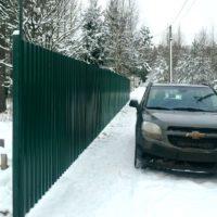Забор из профлиста - изготовление и установка в СПб и Ленинградской области