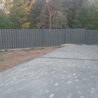 Забор из ДПК-штакетника «Вечное Дерево» на ленточном фундаменте