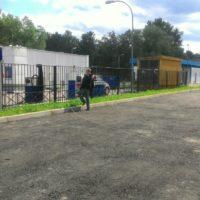 Сварной забор с распашными воротами