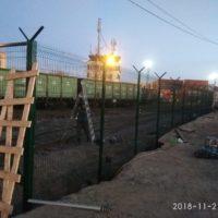 Поставка и монтаж комплекта ограждения из сварной 3d сетки с СББ АКЛ «Егоза». Морской Рыбный порт, участок 1.