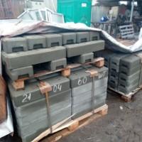 Производство комплекта глухого мобильного передвижного металлического ограждения на бетонных блоках.