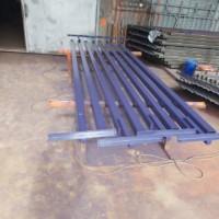 Производство и поставка столбов из профильной трубы с кронштейнами, каркасов распашных ворот, проволоки, ограждения АКЛ СББ, профнастила НС35.